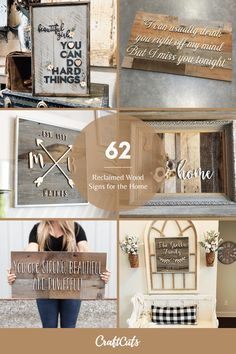 Every home needs at least one, if not a few reclaimed wood signs. Reclaimed Wood Signs are an easy way to add a personal, custom touch to your home. | CraftCuts.com