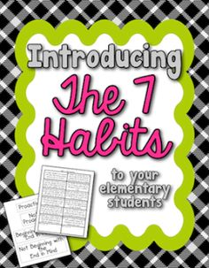 FREE activity for introducing the 7 habits to your students!