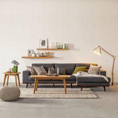 Home Decoration Ideas: Pretty Sofa. Ecksofa Billund - Webstoff Hellgrau - Longchair davorstehend rechts ähnliche Projekte und Ideen wie im Bild vorgestellt findest du auch in unserem Magazin. #sofa
