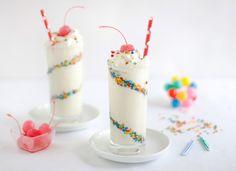 Skinny Confetti Cake Batter Milkshakes | Sprinkle Bakes