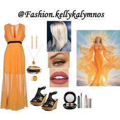 Fashion set Girl of sun created via Dress Styles, Art Decor, Sun, Creative, Beauty, Dresses, Design, Fashion, Vestidos