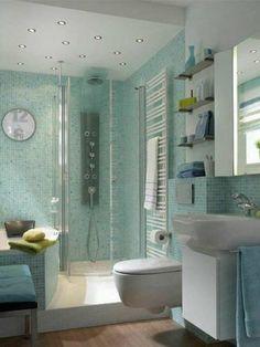 Blue moroccan mosaic tile bathroom shower house for Bathroom design 4m2