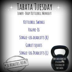 The Healthy Maven: Tabata Tuesday: The Kettlebell Edition