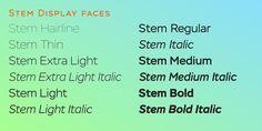 Stem - Webfont & Desktop font « MyFonts