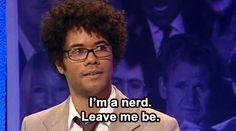 "Richard Ayoade - ""I""m a nerd. Leave me be."""