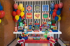 Justice League party -- decor