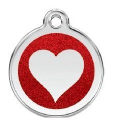 Stainless Steel with Glitter Heart Pet ID Tag  Small Dog >>> Visit the image link more details.(This is an Amazon affiliate link and I receive a commission for the sales)