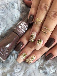 TOP Fotos e Modelos de Unhas Decoradas Bling Acrylic Nails, Gel Nail Art, Pink Nails, Crazy Nail Art, Crazy Nails, Love Nails, Purple Nail Designs, Diy Nail Designs, Gorgeous Nails