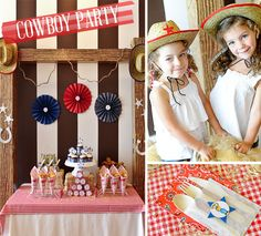 It is no surprise that COWBOY BIRTHDAY PARTIES are one of the most popular themes! Look how cute this party by Fancy That is? Makes me want to grab my cowboy hat + boots (I live in Nashville so of course I own these) and yell YEE-HAW! Cowboy Birthday Party, Cowgirl Party, 2nd Birthday Parties, Birthday Ideas, Barnyard Party, Farm Party, Western Parties, Tea Party Favors, Childrens Party