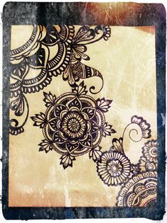 henna on canvas - natural