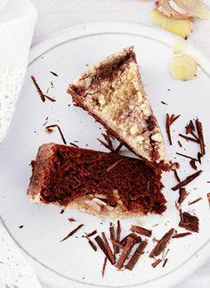Bolo de chocolate com banana e especiarias