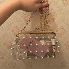See thru purse - miu miu Handbags On Sale, Luxury Handbags, Purses And Handbags, Popular Handbags, Cheap Handbags, Summer Handbags, Fabric Handbags, Handmade Handbags, Wholesale Handbags