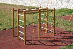 Klettergerüst Holzhof Klettersystem Hangelgerüst Netz - Zum Hangeln, zum Klettern, zum Springen - hier können Kinder sich austoben