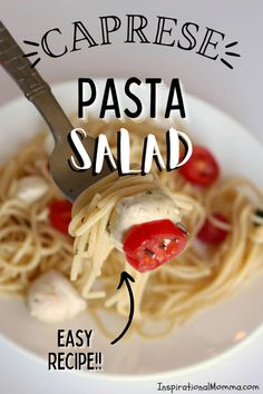 This delicious caprese pasta salad is full of classic Italian flavors, and it's so light, it won't weigh you down. #carpesesalad #pastasalad Caprese Pasta Salad, Easy Pasta Salad, Incredible Recipes, Barbecue Recipes, Pinterest Recipes, How To Cook Pasta, Slow Cooker Recipes, Pasta Recipes, Easy Meals