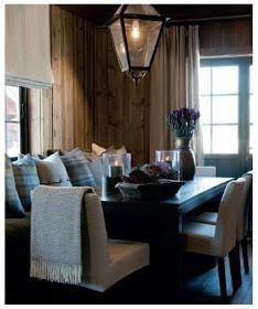modern and rustic dining Cabin Style, House Design, Decor Styles, Rustic House, Interior Design, Home, Cottage Inspiration, Cabin Decor, House