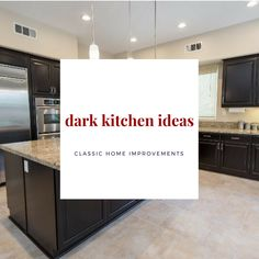 Are you dreaming of a dark wood kitchen cabinet theme for your new kitchen?  Follow this board for some stunning photos to help with your #inspiration and share your #ideas with your designer or contractor for a head start on your #kitchenremodel