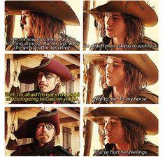 Logan was the perfect D'artagnan!   Love this part :D