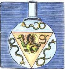 Alchemy:  Engraving from Valentine's 'Twelve Keys' in the Musaeum hermeticum, Frankfurt 1678.  An Alchemy artwork.