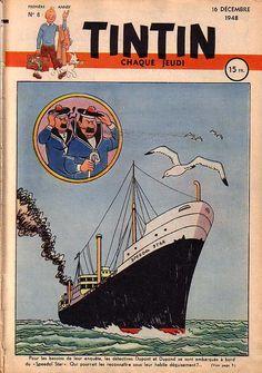Journal de TINTIN  edition françaiseNo. 8 du 16  Decembre, 1948 l'année de ma naissance !