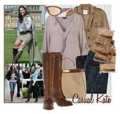 """Casual Kate"" by blujay ❤ liked on Polyvore featuring Burberry, Moschino Cheap & Chic, 7 For All Mankind, Fendi, THIMISTER and Chrome Hearts"