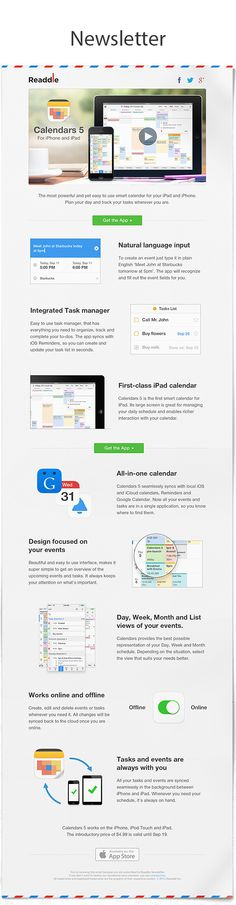 Calendars 5 by Readdle by Readdle , via Behance