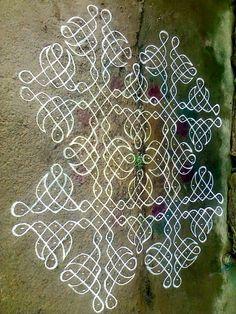 Rangoli Designs Latest, Rangoli Designs Flower, Rangoli Border Designs, Rangoli Designs With Dots, Rangoli Designs Images, Rangoli With Dots, Beautiful Rangoli Designs, Mehandi Designs, Rangoli Borders
