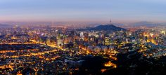 Panorama of Seoul City South Korea High Quality Images, South Korea, Seoul, Paris Skyline, Grand Canyon, Architecture, Wallpaper, City, World