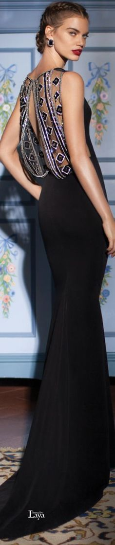 Tarik Ediz ~ Couture Open Back Spring Evening Gown, 2015 Beauty And Fashion, Look Fashion, Beautiful Gowns, Beautiful Outfits, Evening Dresses, Prom Dresses, Glamour, Gowns Of Elegance, Couture Dresses