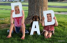 Father's Day photo - really neat gift idea for Dad