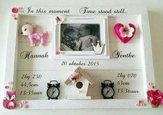 Geboortebord Tweeling ☆ Troetel.com