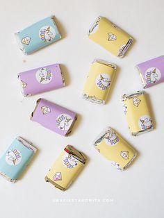 chocolates papelitos unicornio