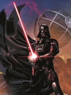 Darth Vader Darth Vader Comic, Vader Star Wars, Star Wars Art, Light Vs Dark, Fantasy Star, Saga, Jedi Sith, Movie Shots, War Comics