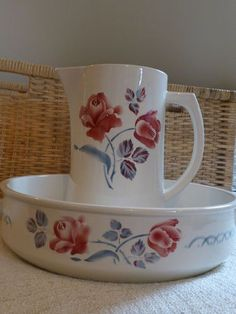 009 Digoin water pitcher and bowl set..gorgeous!