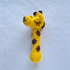 New PDF Crochet Pattern - Giraffe Rattle  (Level Easy) - Text instructions and SYMBOL CHART instructions. $3.99, via Etsy.