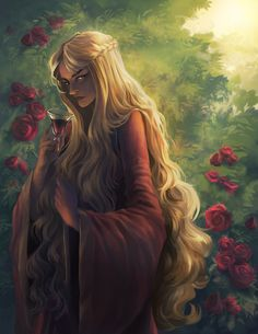 a game of thrones fanart featuring Cersei Lannister, the mother of madness we all love to hate <3