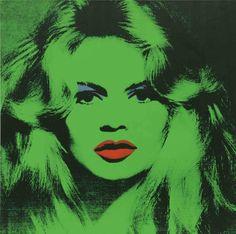 three favs brigitte bardot andy warhol and green