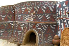 House, Sirigu, Ghana | by annschunior African Mud Cloth, Land Art, African Art, Art And Architecture, Ghana, House, Walls, Image, Traditional House