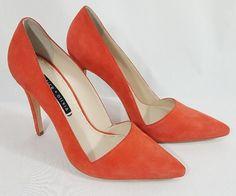 87d747f644d Alice + Olivia Orange Dina Suede Pointed Toe Heels Pumps Womens 11 EUR 41   AliceOlivia  PumpsClassics