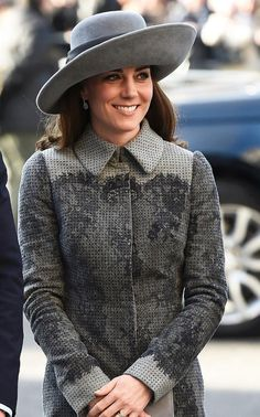 The Duchess of Cambridge revives wide-brimmed hats thanks to Princess Diana's favourite milliner