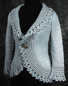 pattern by Fiddlesticks Knitting Printed Pattern version on sale – Reg Now Evoking the romance of times gone by, Fair Lady harkens to an age when garments were adorned with… Crochet Coat, Crochet Cardigan Pattern, Crochet Jacket, Crochet Clothes, Lace Knitting Patterns, Knitting Designs, Fair Lady, Free Add, Free Pattern