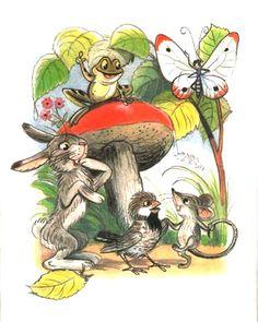 Stories and pictures (Engl.), Betisorul nazdravan, V. Postcard Art, Children's Literature, Animal Photography, Color Inspiration, Childrens Books, Illustrators, Fairy Tales, Nostalgia, Cute Animals