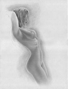 Zeichne auch die Brustwarzen/Nippel der Frau.