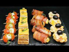 4 retete rapide de aperitive delicioase si usor de pregatit | - YouTube Finger Food Appetizers, Finger Foods, Appetizer Recipes, Sushi, Youtube, Snacks, Chocolate, Ethnic Recipes, Facebook