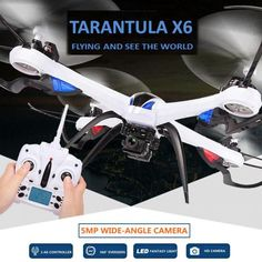 Rc Drones With Camera Hd Wide-angle 5mp Camera Jjrc H16 Tarantula X6 Professional Drones Rc Quadcopter Flying Camera Helicopter