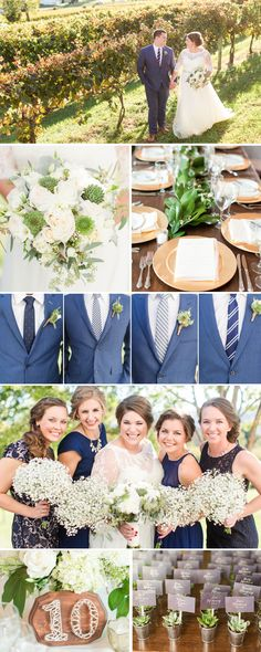 A Navy, White and Green Veritas Vineyard + Winery Wedding in Charlottesville, Virginia by Katelyn James Photography