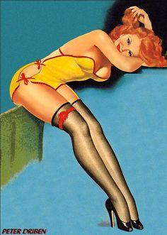 1940s Pin-Up Girl Keyhole Series Do Not Disturb Poster Pin Up Print Art