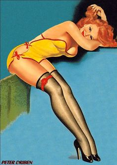 pinup with red hair