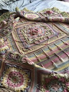 Ravelry: Project Gallery for Demelza pattern by Catherine Bligh Love these colors! Ravelry Crochet, Knit Or Crochet, Crochet Motif, Crochet Shawl, Crochet Baby, Crochet Stitches, Crochet Birds, Granny Square Crochet Pattern, Crochet Blocks