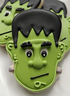 Frankenstein Green Cookie Icing