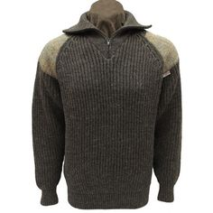 Niffi Ecosse Crofter Chunky Quater Zip Neck Unisex Sweater With Harris Tweed…